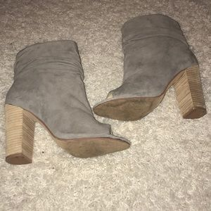 Chinese Laundry Shoes - Chinese Laundry Grey Peep Toe Bootie sz 10
